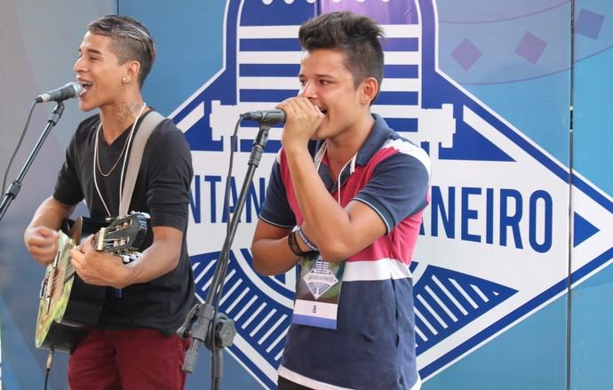 Dupla Bruno & Léo ficou em 1º lugar na disputa (Foto: Katiúscia Monteiro/ Rede Amazônica)