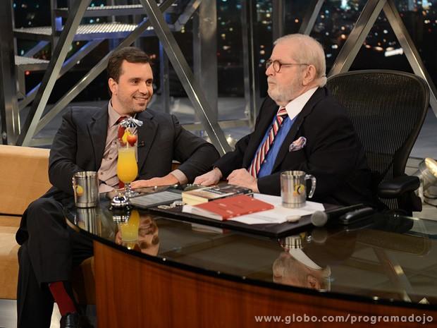 Felipe Pena participa do Programa do Jô desta quinta-feira (Foto: TV Globo/Programa do Jô)