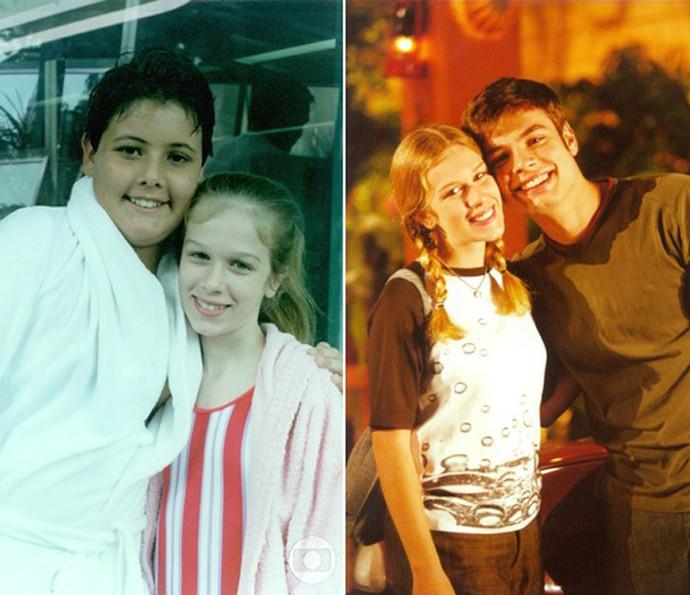 Ludmila Dayer nas duas participações que fez em Malhação, em 1995 e em 2000 (Foto: CEDOC / TV Globo)