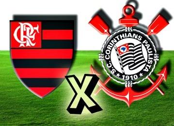 Flamengo x Corinthians (Foto: Arte TV Liberal)