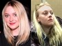 Dakota Fanning pega metrô em Nova York com look casual e sem make