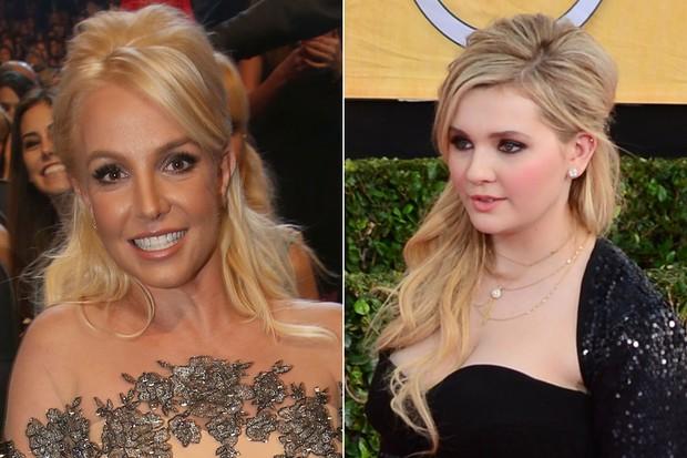 BELEZA - Penteado sessentinha - Britney Spears e Abigail Breslin (Foto: AFP)