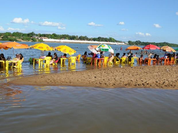 94813d947ca4 Praias de Araguatins devem atrair 10 mil pessoas (Foto: Luciano Ribeiro/ATN)