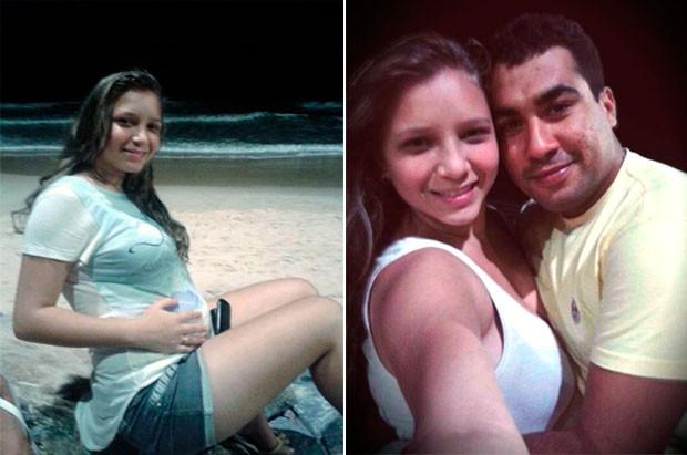 Jane Vieira de Souza, de 19 anos, estava grávida; ela e Jorge Teixeira Feliciano, de 28 anos, foram mortos nesta quinta-feira (29) (Foto: Arquivo Pessoal/Facebook)
