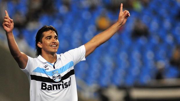 Marcelo Moreno gol Grêmio (Foto: Wallace Teixeira / Ag.Estado)