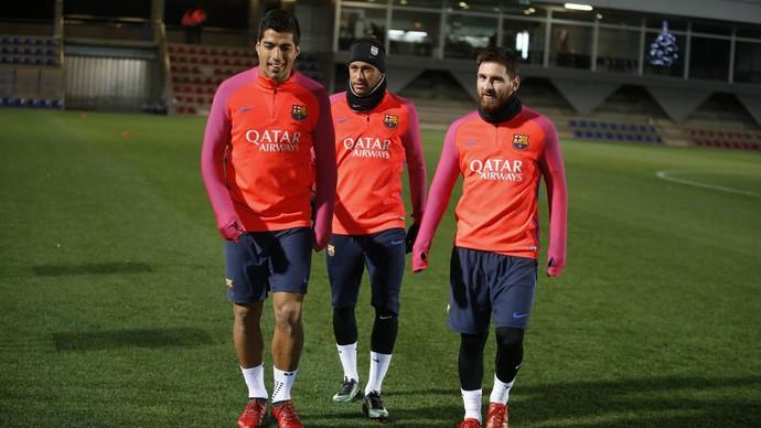 Messi, Suárez e Neymar, Barcelona (Foto: Miguel Ruiz / FCB)