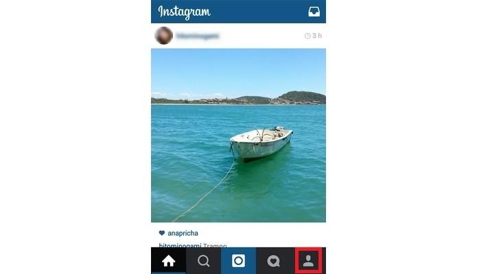 Destaque em vermelho para ícone de perfil do Instagram (Foto: Reprodução/ Raquel Freire)