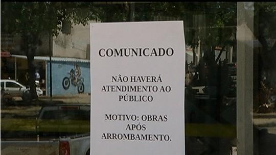 Ação de criminosos gera transtornos a usuários de banco em Francisco Sá