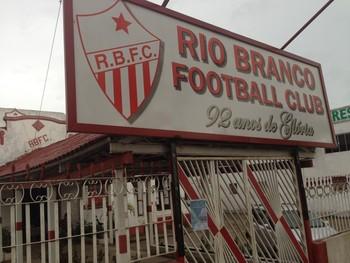 Teto da sede social do Rio Branco desabado 3 (Foto: Diego Torres)