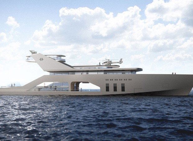 O iate foi projetado para garantir sofisticação e luxo aos futuros proprietários (Foto: Hareide Design Norway/Divulgação)