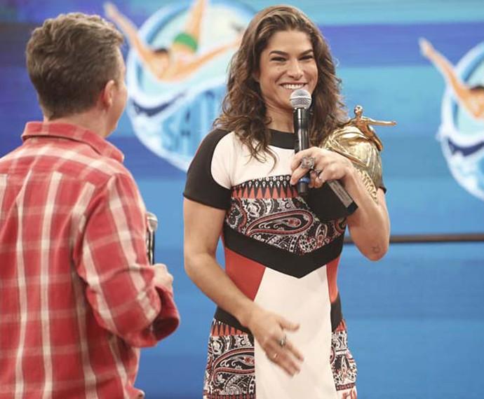 Priscila Fantin é a grande campeã da categoria feminina no Saltibum 2015 (Foto: Inácio Moraes/ Gshow)