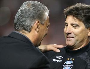 Tite e Renato Gaúcho jogo Corinthians e Grêmio (Foto: Marcos Ribolli / Globoesporte.com)