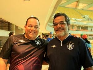 Paraenses viajaram até Manaus para acompanhar partida (Foto: Marcos Dantas/G1 AM)