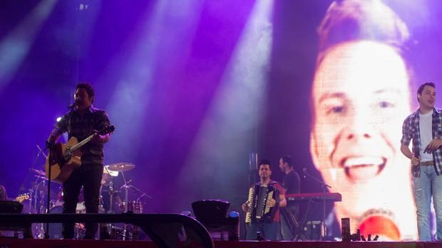 João Bosco e Vinícius cantam em Barretos. (Foto: Flavio Moraes / G1)