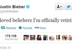 Justin Bieber anunciou aposentadoria pelo Twitter (Foto: Reprodução/Twitter/Justin Bieber)