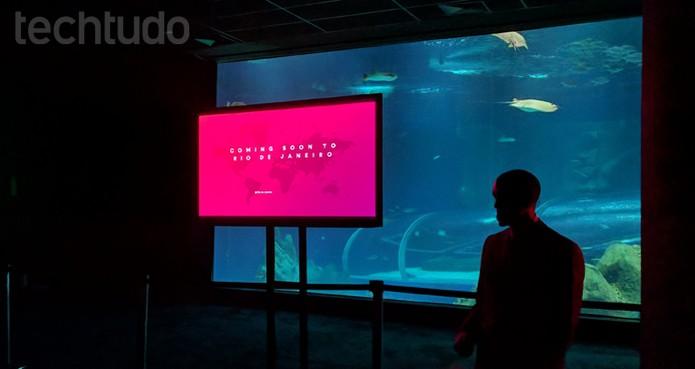 AirBnb anuncia Trips no Rio de Janeiro em evento no AquaRio (Foto: Melissa Cruz / TechTudo)