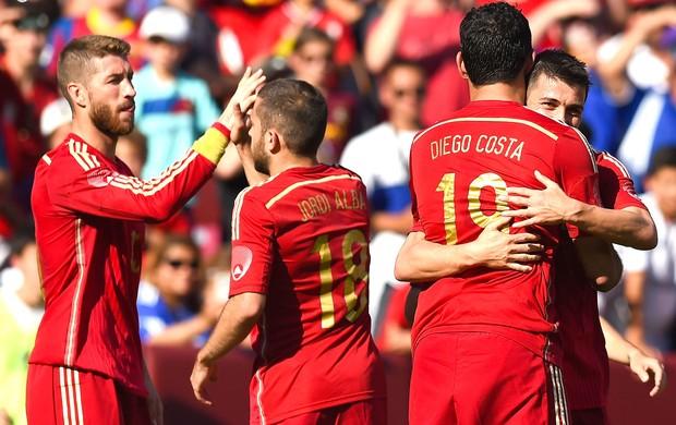 Comemoração Da Espanha contra El Salvador (Foto: Getty Images)