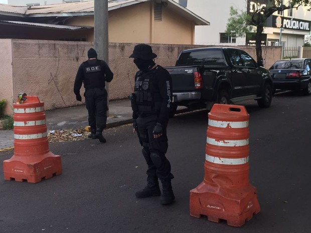 Operação é entre a Polícia Civil e o MPE (Foto: Valmir Custódio/G1)
