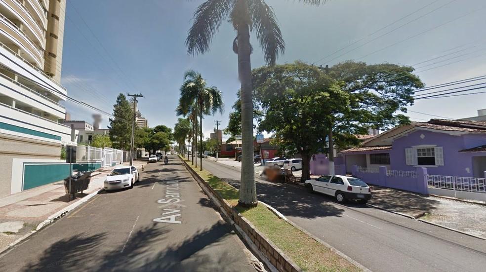 Crime aconteceu na Avenida Sampaio Vidal em Marília  (Foto: Reprodução/ Googlemaps )