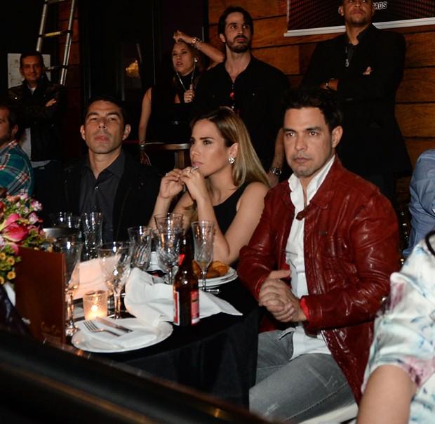 Marcos Buaiz, Wanessa Camargo e Zezé di Camargo (Foto: Francisco Cepeda/AGNews)