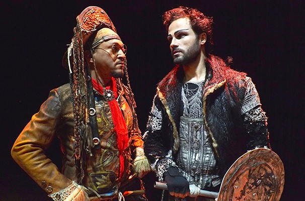 Fabio Lago e Marcos Damigo nas peles de Lampião e Lancelote, respectivamente (Foto: Divulgação)
