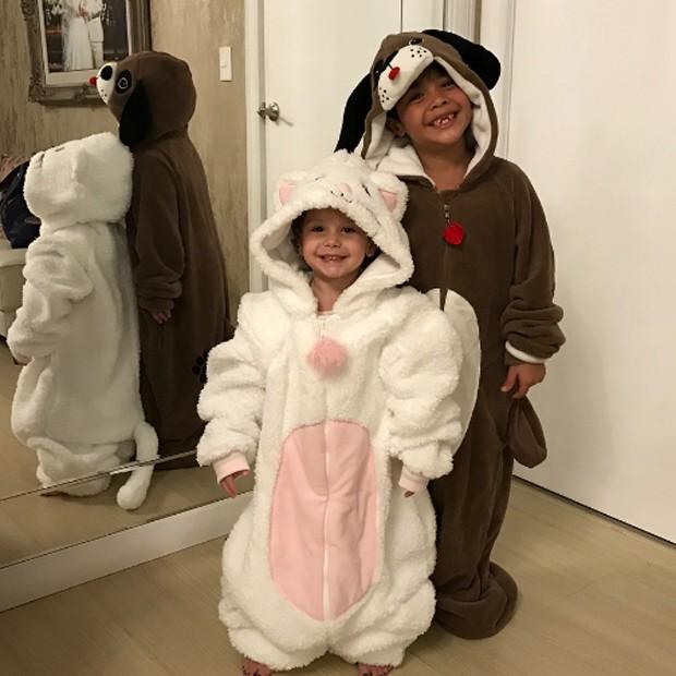 Ysis e  Yhudy, filhos de Wesley Safadão (Foto: Reprodução/Instagram)
