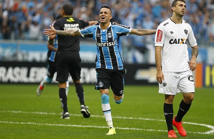 Grêmio x Atlético-MG Arena do Grêmio Luan Grêmio gol Luan (Foto: Eduardo Deconto/GloboEsporte.com)