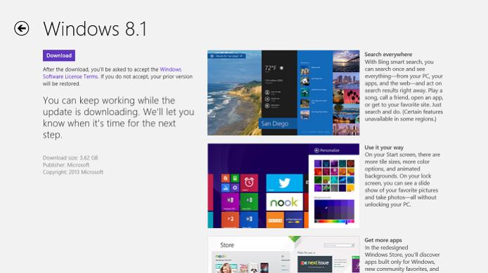 Update grátis para o Windows 8.1 é disponibilizado (Foto: Thiago Barros/TechTudo) (Foto: Update grátis para o Windows 8.1 é disponibilizado (Foto: Thiago Barros/TechTudo))