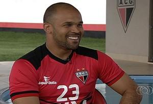 Márcio, goleiro do Atlético-GO (Foto: Reprodução/TV Anhanguera)