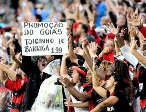 torcida Flamengo jogo Goiás Maracanã (Foto: André Durão / Globoesporte.com)