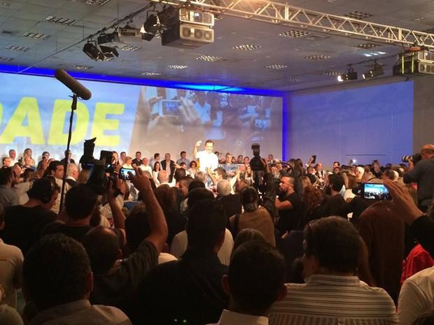 João Doria é anunciado candidato do PSDB às eleições para a Prefeitura de São Paulo (Foto: Marcio Pinho/G1)