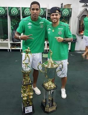 Cleber Santana e Silvinho no Chapecoense de Santa Catarina  (Foto: Silvio Junior/ arquivo pessoal )