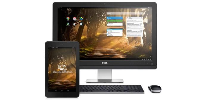 Acessório permite conectar tablet em telas maiores e usá-lo como se fosse um desktop (foto: Reprodução/Dell)