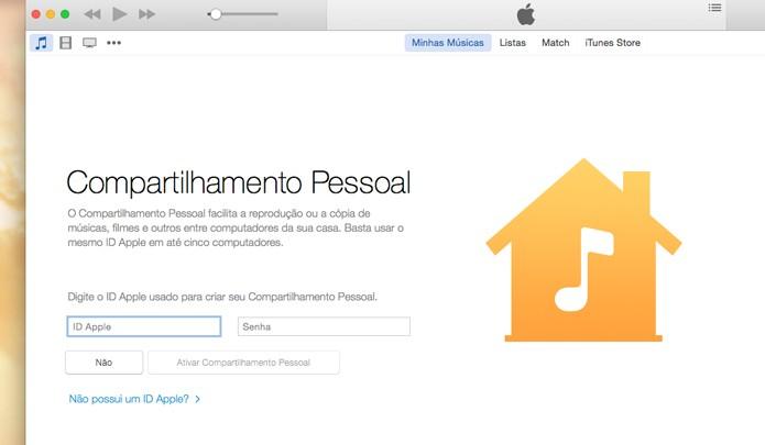 Faça login com seu Apple ID (Foto: Reprodução/André Sugai)