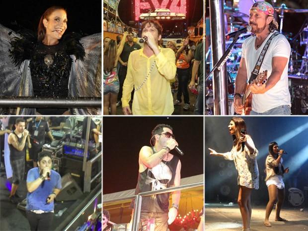 Ivete Sangalo, Banda Eva, Chiclete com Banana, Tomate, Jorge e Mateus e Simone e Simaria estão confirmados no Fortal 2012 (Foto: Arte/ G1)