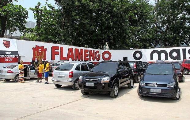 novo estacionamento Flamengo eleições  (Foto: Fred Huber / Globoesporte.com)