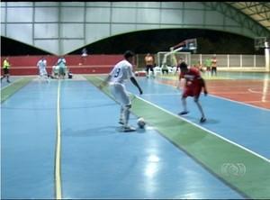 Taquaralto só empata jogando em casa diante do Colinas  (Foto: Reprodução/TV Anhanguera)