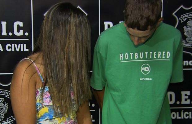 Casal e amigo são presos suspeitos de roubar casas e carros de luxo em Goiânia, Goiás (Foto: Reprodução/TV Anhanguera)