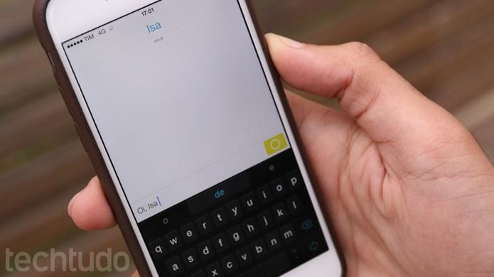 Bate-papo e troca de mensagens no Snapchat (Foto: TechTudo / Lucas Mendes)