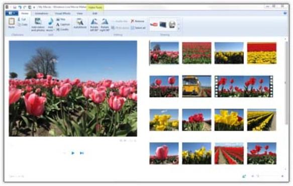screenshot de Windows Live Movie Maker