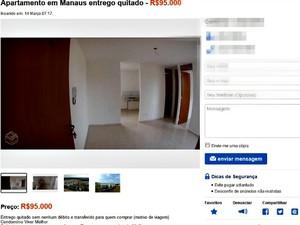 Valores cobrados por imóveis do Viver Melhor chegam a custar 95 mil reais (Foto: Reprodução)