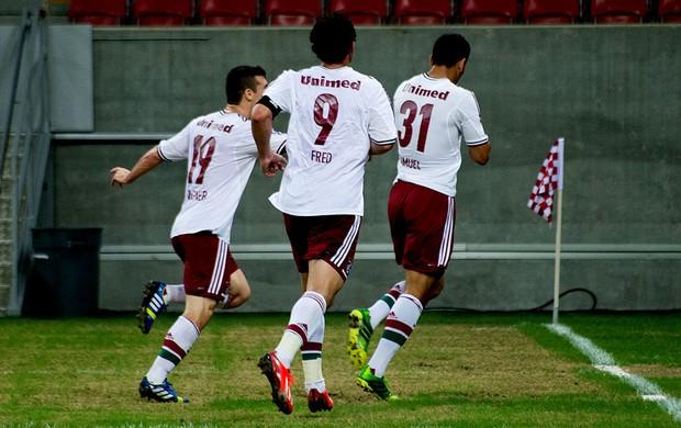 samuel fred wagner fluminense gol náutico (Foto: Bruno Haddad / Fluminense F.C.)