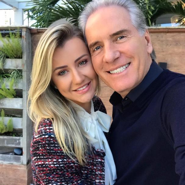 Ana Paula Siebert e Roberto Justus (Foto: Reprodução Instagram)