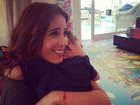 Wanessa ganha abraço do filho: 'Como sair de casa para trabalhar?