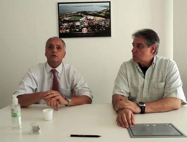Marcelo Medeiros Luís César Souto de Moura direção Inter (Foto: Tomás Hammes / GLOBOESPORTE.COM)