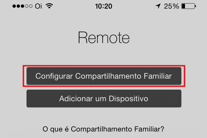 Iniciando o processo de habilitação do Compartilhamento Familiar no iPhone (Foto: Reprodução/Edivaldo Brito)