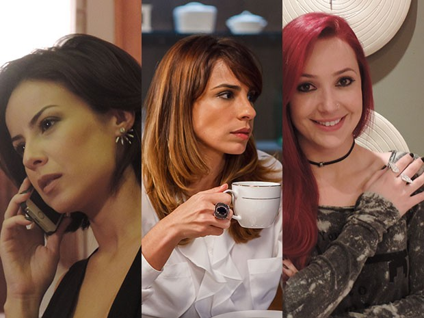As personagens da novela arrasaram com as joias (Foto: Gshow)