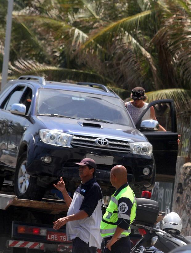 Carro do filho de Marcelo Novaes (Foto: Agnews )