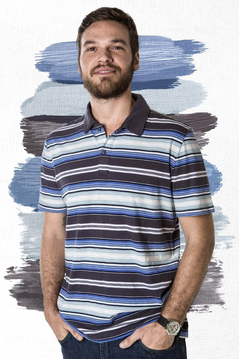 Emílio Dantas será Rubinho em A Força do Querer (Foto: Fábio Rocha (fotografia) e Thays Malcher (arte)/Gshow)