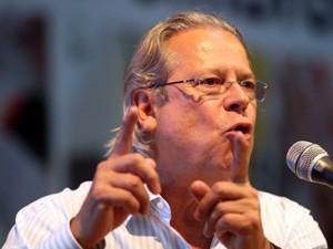 Ex-ministro José Dirceu participa de plenária do PT (Foto: JF Diorio/Estadão Conteúdo)